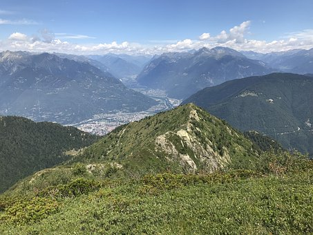 The Panorama From The Top Of Calescio, Alpine Route