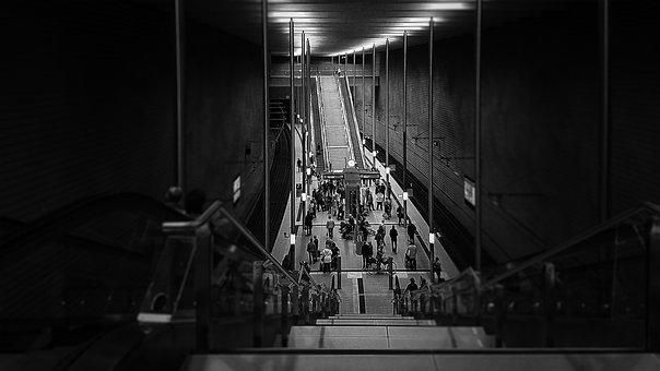 Ubahn, Bahn, Railway Station, Subway, Metro