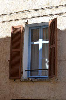 Window, Shutters, Architecture, Building, Wall, Old