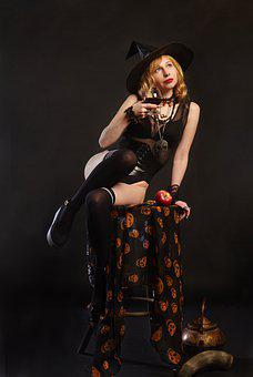 Witch, Halloween, Magic, Hat, Witchcraft, Woman