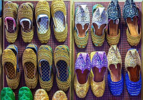 Slippers, Sandals, Arabic, Decorative, Colorful