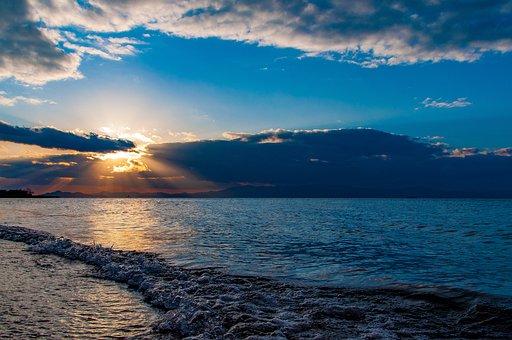 Lake, Lake Biwa, Biwa Lake In The Winter