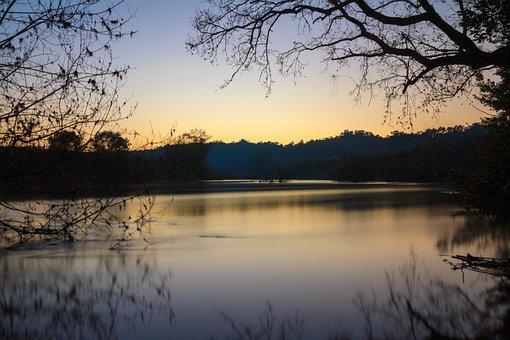 Blue Hour, Galicia, River, Miño, Sunset, Twilight