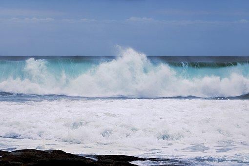 Sea, Ocean, Breaking Wave, Nature, Wave, Blue Water