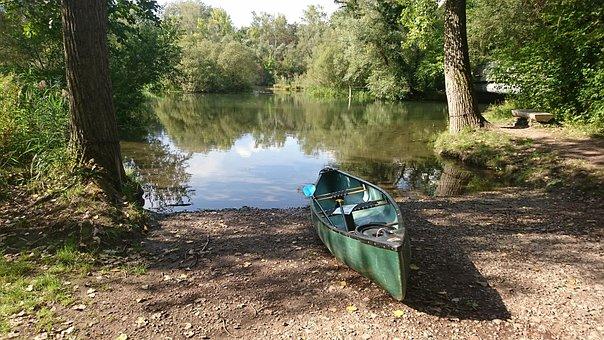 Canoeing, River, Boat, Boat Trip, Paddle, Lake