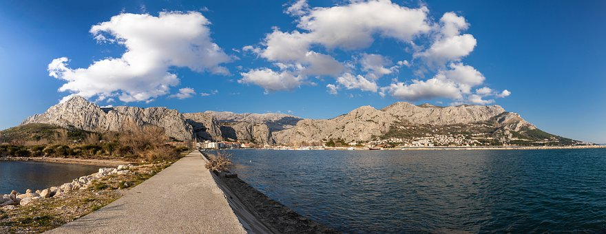 Croatia, Dalmatia, Panorama, View, Sea