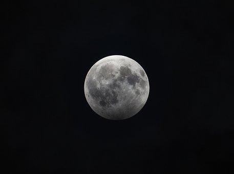 Moon, Full Moon, Crater, Moonlight, Darkness, Night