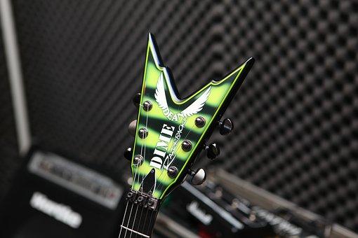 Dime Razorback, Dean, Electric Guitar, Guitar, Head
