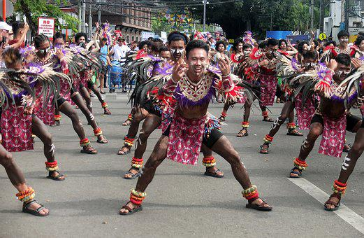 Dinagyang, Local, Tribe, Man, Street, Dance, Festival