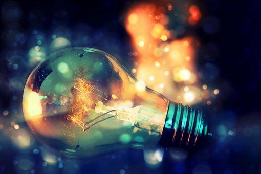 Light Bulb, Bokeh, Flame, Fire, Lights, Out Of Focus