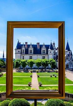 Garden, Castle, Amiens, Park, Architecture
