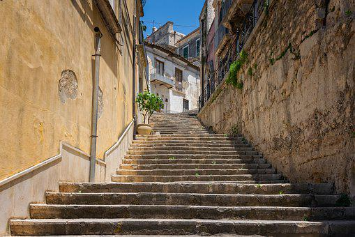 Stairs, Historic Center, Architecture, Gradually