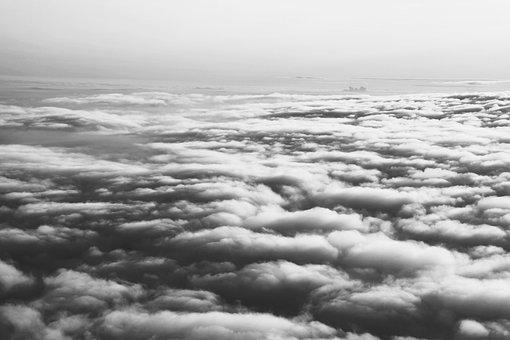 Above, Grey, Clouds, Cloudy, Air