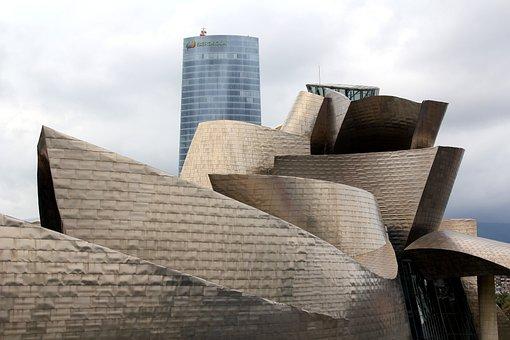Guggheneim, Bilbao, Spain, Architecture, Building