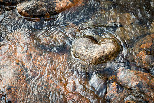 Heart, Stone, River, Water, Meditation