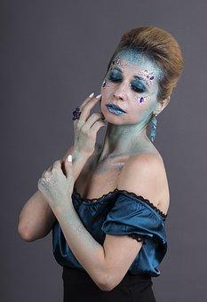 Face Art, Makeup, Winter, Beauty, Body Art, Hair