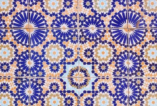 Morocco, Essaouira, Tile, Pattern