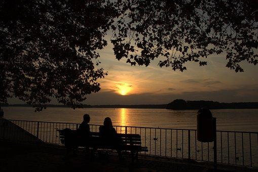 Sunset, Landscape, Nature, Abendstimmung