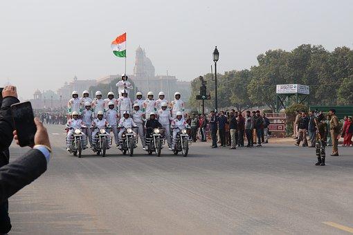 India, New Delhi, Flag, Nation