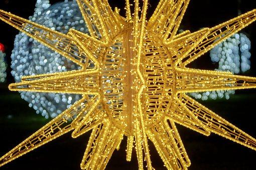 Decor, Ornament, Lights, Star, Ornaments