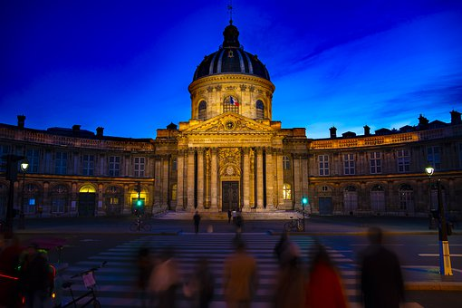 Paris, Night, Scene, France, City, Architecture