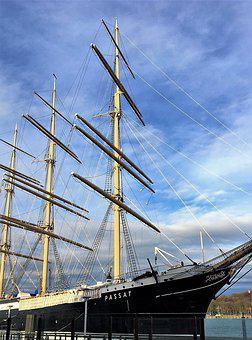Sailing Vessel, Passat, Museum Ship, Four Master