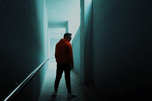 Model, Corridor, Tunnel, Light, Fiction, Person