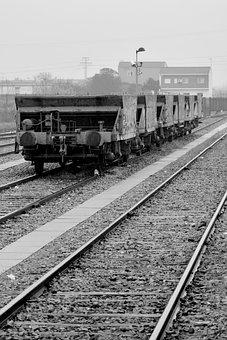 Train, Railway, Transport, Sky, Loneliness, Rails