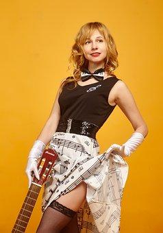 Pin-Up Girl, Guitar, Stockings