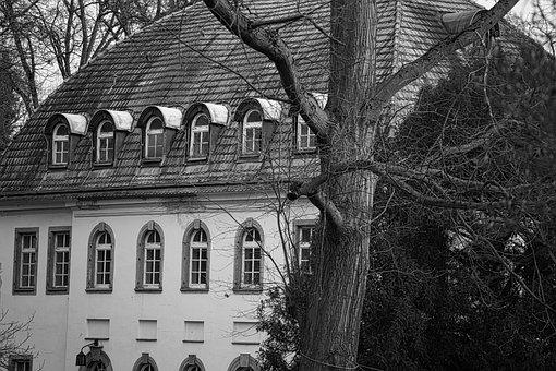 Villa, Schlossgarten, Old, Abandoned