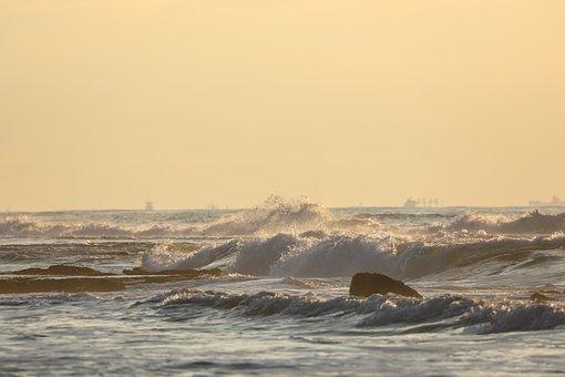 Sea, Storm, Ocean, Rain, Water, Nature, Sky, Thunder