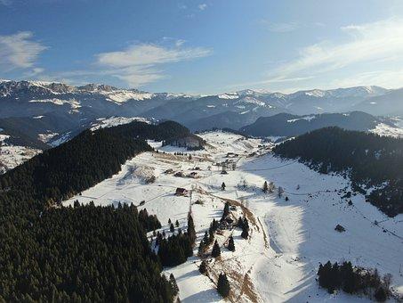 Winter, Romania, Mountain, Landscape