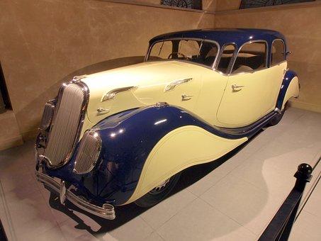 Panhard And Levassor, 1937, Car, Automobile, Engine