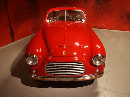 Ferrari Coupe, 1949, Car, Automobile, Engine