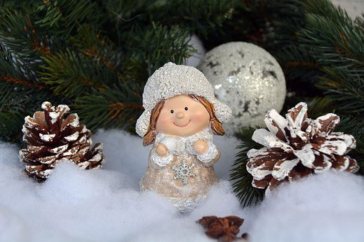 Christmas, Christmas Decoration, Girl, Advent