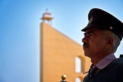 Guard, Jantar Mantar, Jaipur, India, Travel, Asia