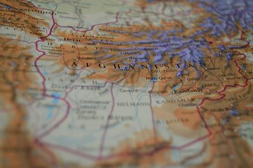 Map, Afghanistan, Atlas, Middle East, Asia, Geography