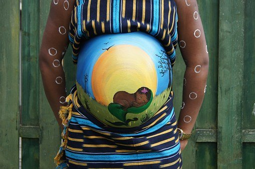 Belly Painting, Baby, Pregnant, Bellypaint, Africa