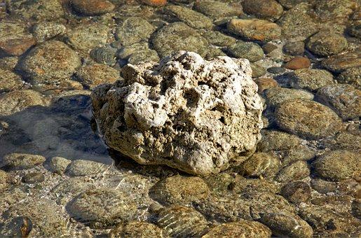 Water, Stones, Boulder, Bank, Rest, Silent, Nature
