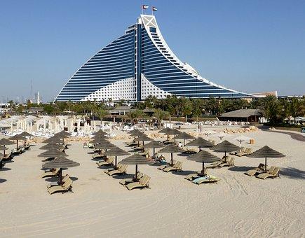 Hotel, Dubai, Luxury, Beach, Architecture, Glamor