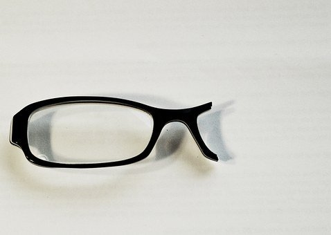 Glasses, Broken, Black, Lens, Vision, Eyeglasses, Frame