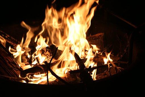 Fire, Camping, Bonfire, Flames, Burns, Camp Fire, Camp
