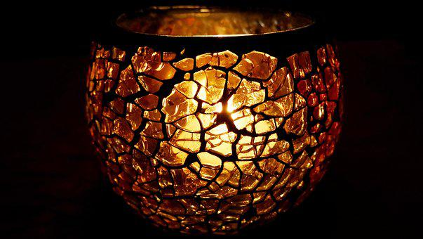 Windlight, Candle, Light, Candlelight, Glass