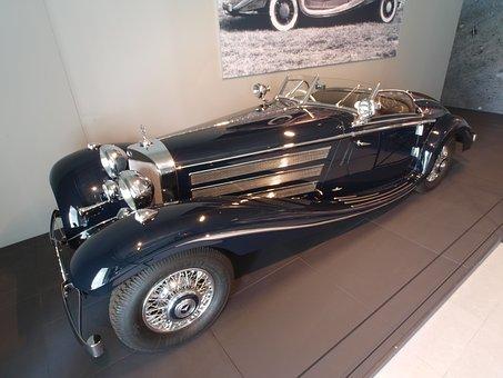 Mercedes Benz, 1936, Car, Automobile, Engine