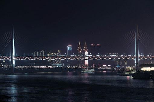 Night View, Nanbin, Chongqing, Chinese New Year, City