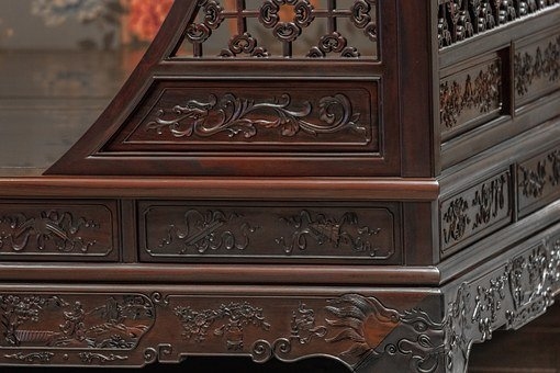 Carving, Rosewood Long Beds, Chongqing, Jane Tan Kok