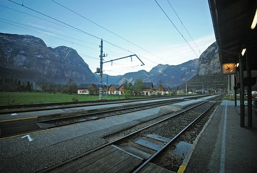 Train, Station, Tracks, Railway, Electricity