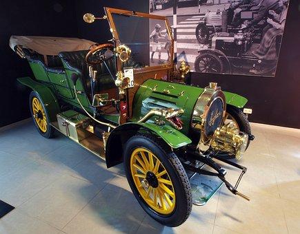 Spyker, 1905, Car, Automobile, Engine