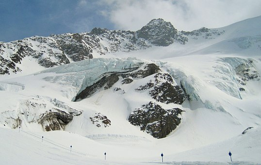 Glacial Ice, Kaunertal Glacier, Eternal Ice, Glacier