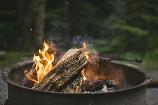 Fire, Chill, Campfire, Fireplace, Evening, Log, Red